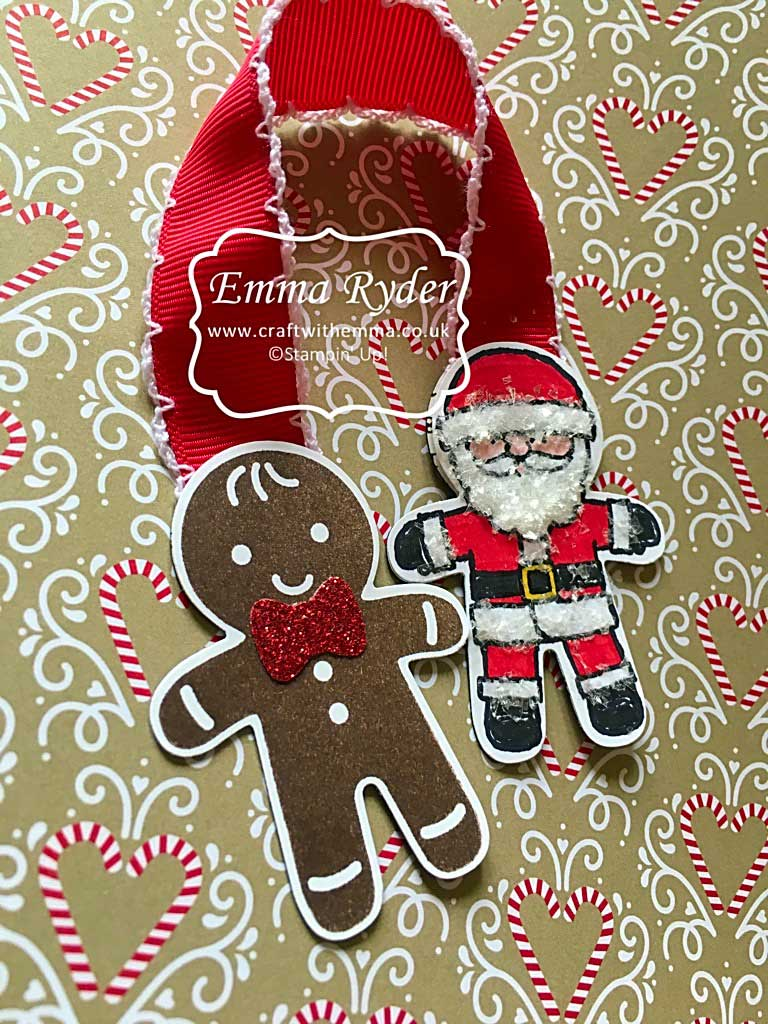 Magnetic bookmark using Cookie Cutter Christmas