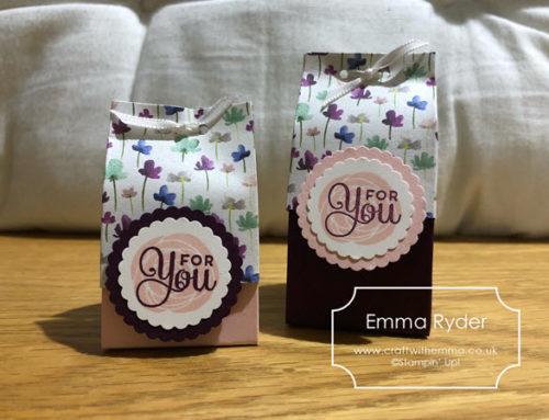 CASE challenge 9 – teeny gift bags