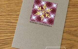 Gold and Plaid Snowflake