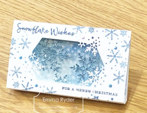 October class by post – Snowflake Diorama card