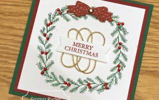 Holly Wreath card