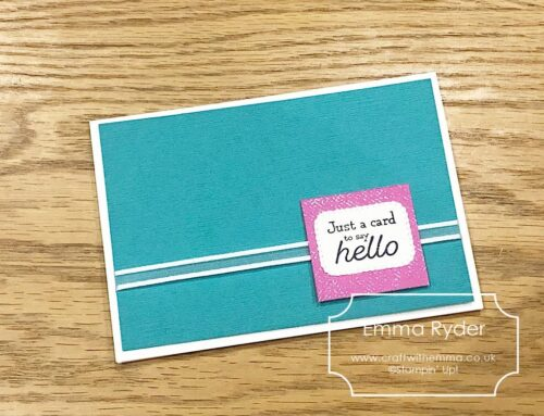 One Sheet Wonder class – card 11